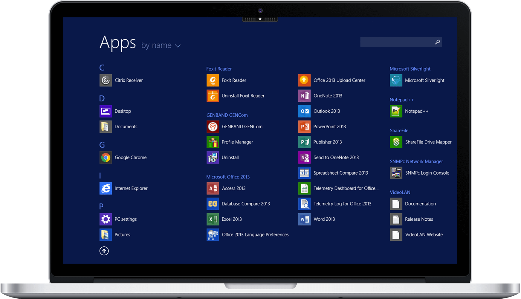 Windows Apps in Hosted Desktop on MacBook Pro